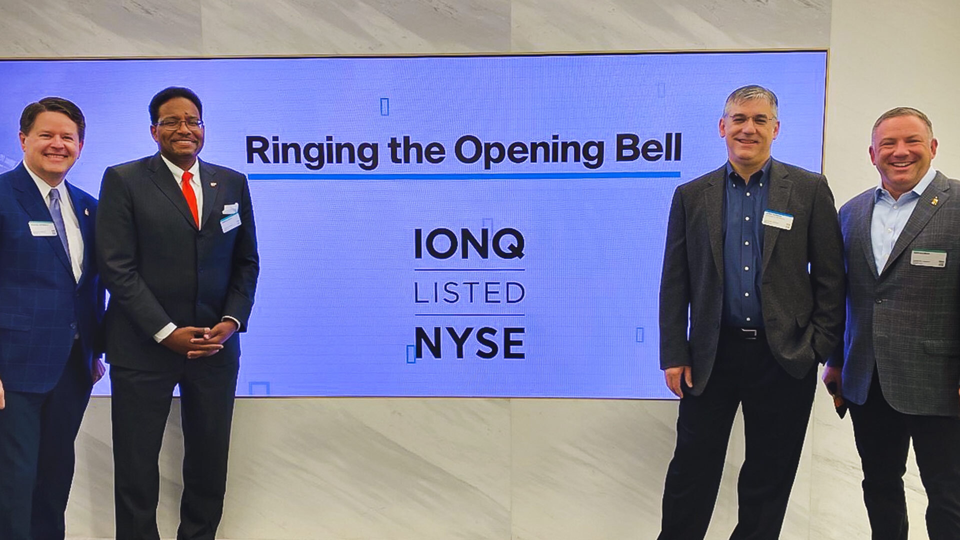 UMD contingent joining IonQ officials at the New York Stock Exchange